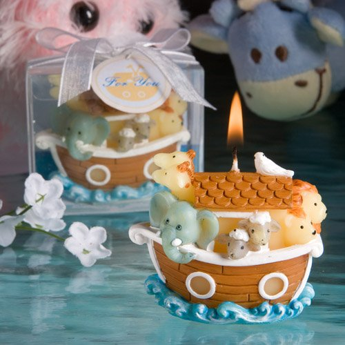 Noah's Ark Candle Favors