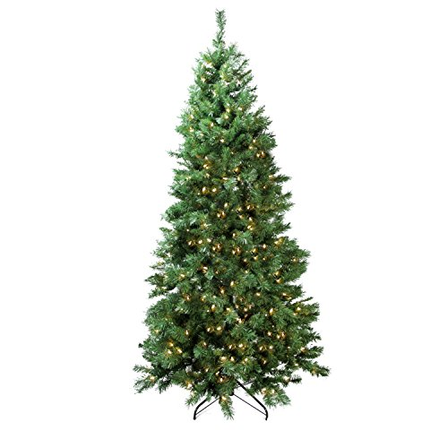 Northlight Pre-Lit Single Plug Slim Glacier Pine Artificial Christmas Tree with Multi-Function LED Lights, 7' (Pine Tree Plug compare prices)