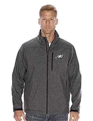 "Philadelphia Eagles NFL ""Spike"" Full Zip Premium Soft Shell Jacket - Charcoal"