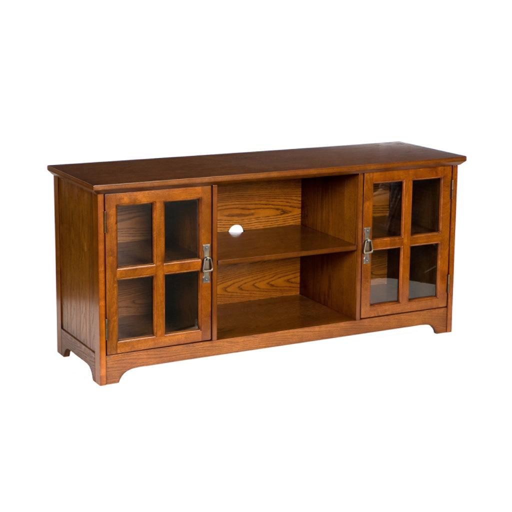 Sei Remington Media Stand Mission Oak Home