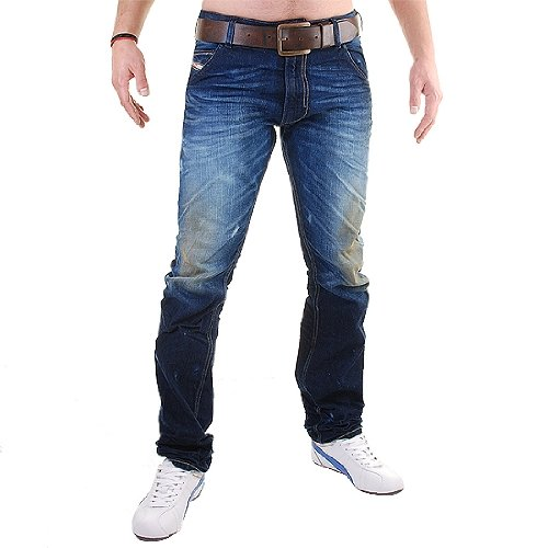 Brand New Diesel Krooley 880W Mens Jeans, Dirty New Age Collection, 0880W, Regular Slim Carrot Fit (33 x 34)