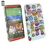 Emartbuy® HTC Desire 820 Gel Skin Case Cover Owls