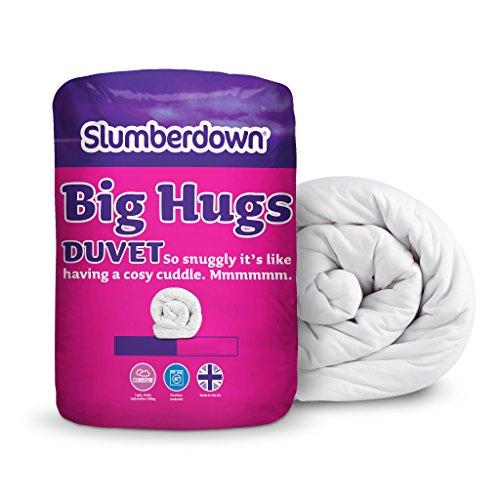 Slumberdown big Hugs - Piumino per letto matrimoniale maxi (King Size), 13,5 tog, colore: Bianco