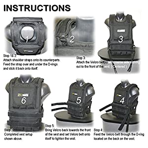 ZFOsports® - 50LBS ADJUSTABLE WEIGHTED VEST