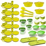 Cutting EDGE Super Maha Combo Dinner Set + Air Tight Storage Containers + Refrigerator Storage Containers. 69...