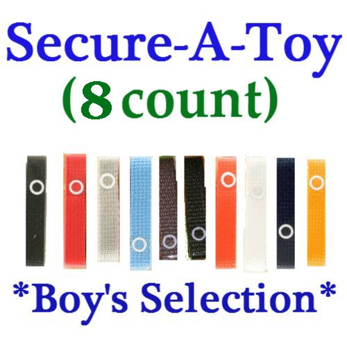 Baby Buddy Secure-A-Toy Strap - 8 Count (Boy) front-376751