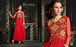 pakeeza libas red net gown