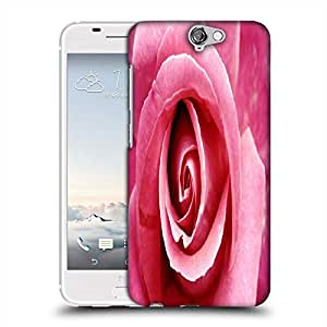 Snoogg Pink Rose Designer Protective Phone Back Case Cover For HTC one A9