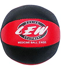 LEW Gym Rubber medicine Ball with Texured surface for superior grip- 2kg