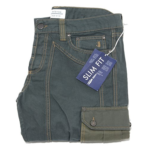 7443 pantalone JECKERSON 56% LINO 44% COTONE jeans uomo trousers men [33]