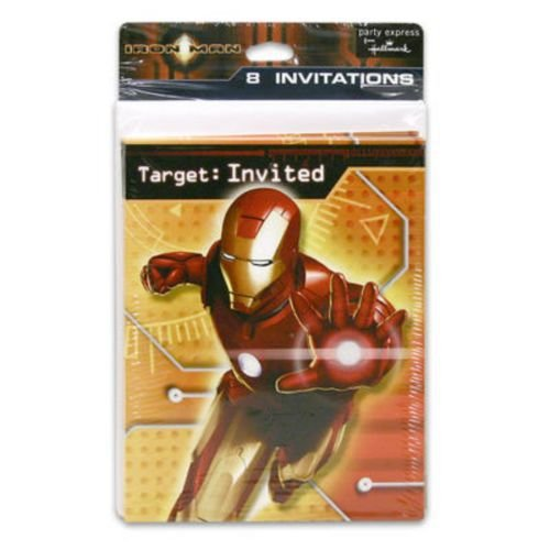 Iron Man Invitations w/ Envelopes (8ct) (Iron Man Invitations compare prices)