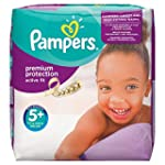 Pampers Active Fit Nappies, Size 5+ (...