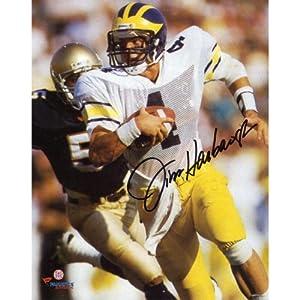 Jim Harbaugh Michigan Wolverines Autographed 8