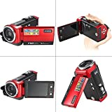 Andoer HDV-107 Digital Video Camcorder Kamera HD 720P Flash 16MP DVR 2.7 '' TFT LCD Screen 16x ZOOM Rot