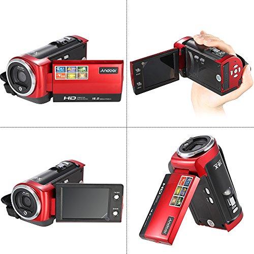 HDV-107 Digital Video Camcorder Kamera HD 720P Flash 16MP DVR 2.7 '' TFT LCD Screen 16x ZOOM Rot