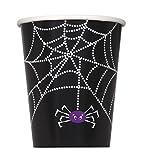 8 Vasos cart�n tela ara�a Halloween - �nica