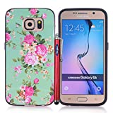 Galaxy S6 Case, S6 tpu case,Vogue shop [Ultra Slim] [Perfect Fit] [Scratch Resistant][Anti Drop & Scratch] Interesting Fashion Color Bumper case Pattern Design TPU Skin Protective Case Cover For Samsung Galaxy S 6.High Impact Body Armor Hard flexible and durable PC and TPU material Hard Cases Covers Protector For Samsung Galaxy S6 2015 New Release with one stylus /1 screen touch pen (Vogue shop-peony)