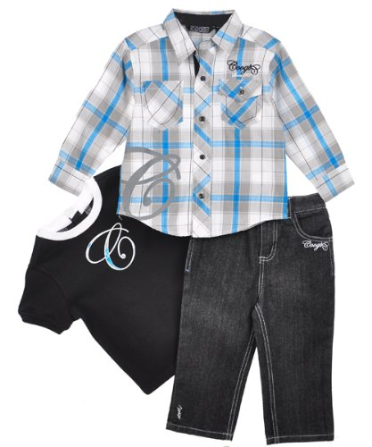 "Coogi Boys ""The Big C"" 3-Piece Outfit (Sizes 12M - 24M) - coal, 24 months"