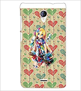 PrintDhaba Fantasy Girl D-5740 Back Case Cover for MICROMAX A106 UNITE 2 (Multi-Coloured)