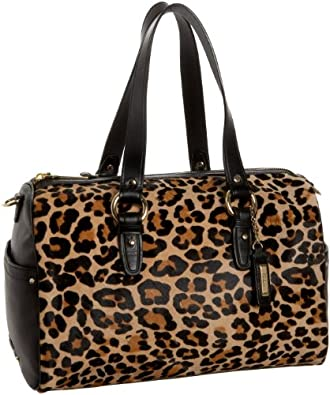 Cole Haan Tantivy Haircalf Jade Satchel,Cider Leopard Print,one size