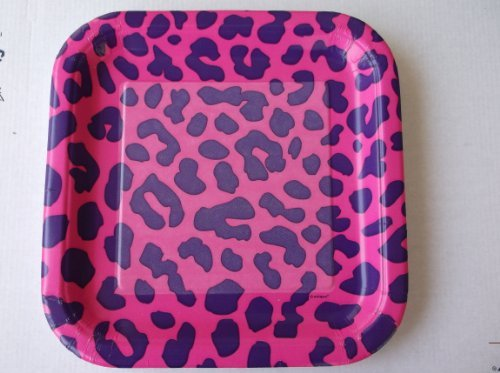Pink Leopard Lunch Plates 12 Ct by Unique