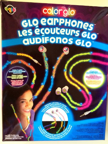 Color Glo Headphones - Kit for Making 2 Pairs of Glow in the Dark Earphones - Earbuds (Glo Timer compare prices)