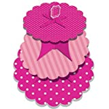 Perfectly Pink Party - 3 Tier Pink Polka & Stripes Cupcake Stand