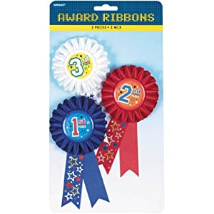 AMSCAN Award Ribbon 3-Pack: 6
