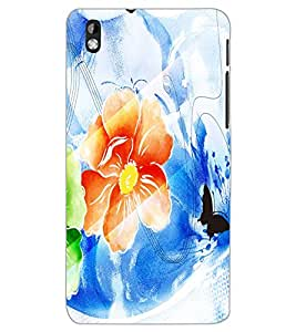 HTC DESIRE 816 FLOWER Back Cover by PRINTSWAG