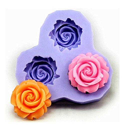 SAMGU Moules à pâtisserie 3D Fleur Moules pour Décoration Gâteau Cupcake Fondant Sucre moulage Emporte-pièces