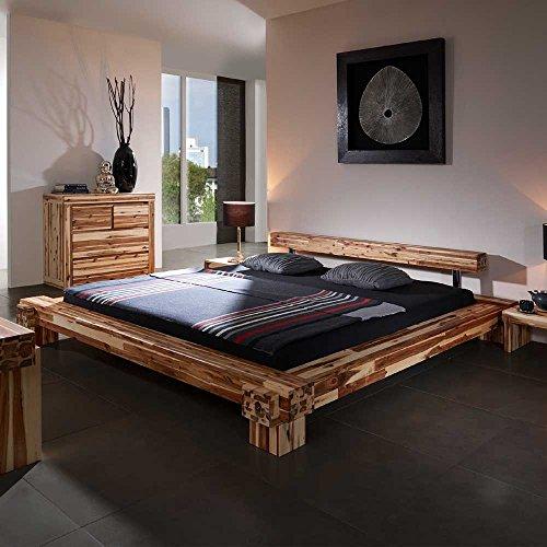 Holzbalkenbett-aus-Akazie-massiv-160x200-Pharao24