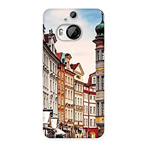 Delighted Prague Street Multicolor Print Back Case Cover for HTC One M9 Plus