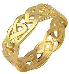 buy Solid Gold Celtic Wedding Band Trinity Knot Eternity Ring (10K) (5.5)