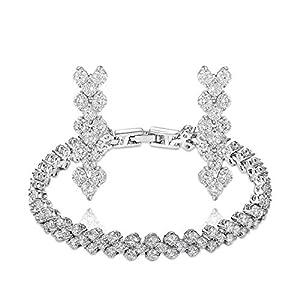 Shiny Moon Womens Girls Korean Drama Style Druzy Crystal Jewelry Sets