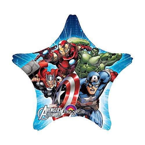 Anagram International 2804201 Avengers Assemble Star Jumbo Balloon Pack, 32