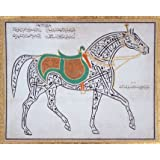 A Calligraphic Drawing of a Horse (V&A Custom Print)