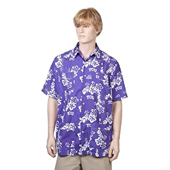 Texas Christian University Purple Hawaiiabera Shirt