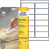 Avery Zweckform L4743REV-25 Universal-Etiketten 25 Blatt weiß