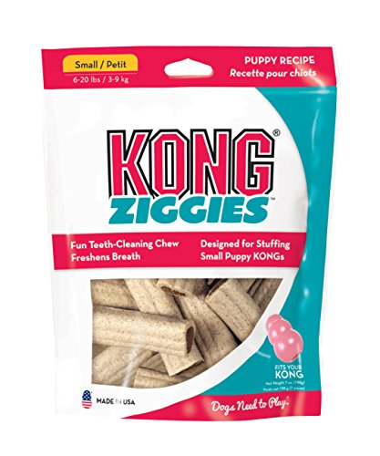KONG Puppy Stuff'N Ziggies SMALL Dog Treat 7-Ounce 12-Pack (XZ61)