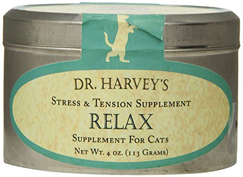 Dr. Harvey'S Relax And Stress Herbal Supplement For Cats, 4-Ounce Tin