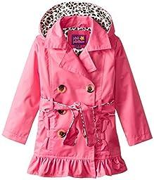 Pink Platinum Little Girls\' Double Leopard Jacket, Fuchsia, 5/6