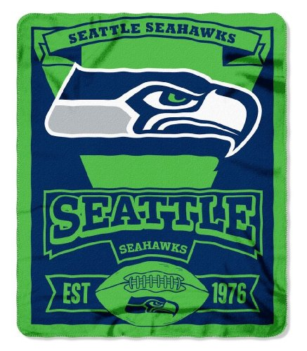 "Nfl Seattle Seahawks 50"" X 60"" Marque Fleece Throw Blanket - Green front-962100"
