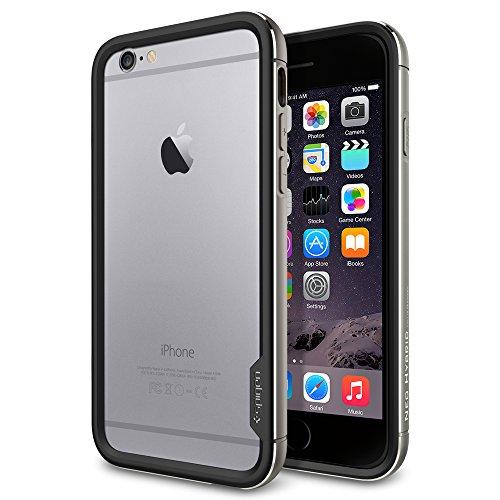 iPhone 6 ケース Spigen [リアル アルミニウム バンパー] ネオ・ハイブリッドEX メタル iPhone 4.7 (2014) (国内正規品) (スペース・グレーSGP11190)