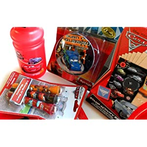 Disney Pixar Cars Care Package Gift Pack Set of 8 Different Cars Items