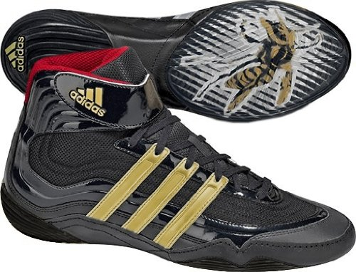 Adidas Tyrint Iv Wrestling Shoes Black Gold Red