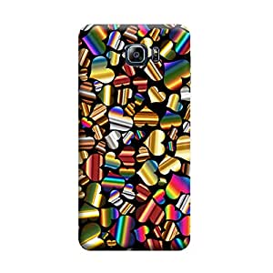 Desicase Samsung Note 5 Colourfull Multi Hearts 3D Matte Finishing Printed Designer Hard Back Case Cover (Multicolor)