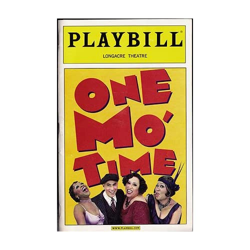 One Mo' Time -- Playbill 2002 Longacre Theatre, Broadway Debut, Bagneris, Vernel