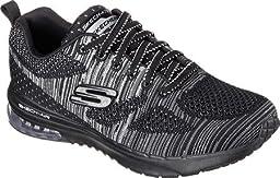 Skechers Women\'s Skech-Air Infinity Training Shoe,Stand/Black/Silver,US 5 M