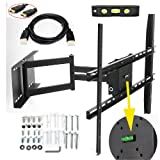Lumsing Universal Corner TV Wall Mount Bracket with Full Motion Swing Out/Extendable & Tilting & Swivel Articulating... by Lumsing