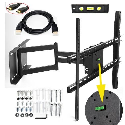 "Lumsing Universal Corner Tv Wall Mount Bracket With Full Motion Swing Out/Extendable & Tilting & Swivel Articulating Arm For 17""-60"" Led, Lcd, Plasma Tvs And Flat Panel Displays Such As Dynex, Dell, Olevia Syntax, Polaroid, Sony, Samsung, Lg, Haier, Panas"
